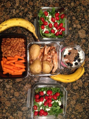 About 3 days worth of lunches & snackies!