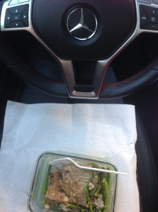 food in car